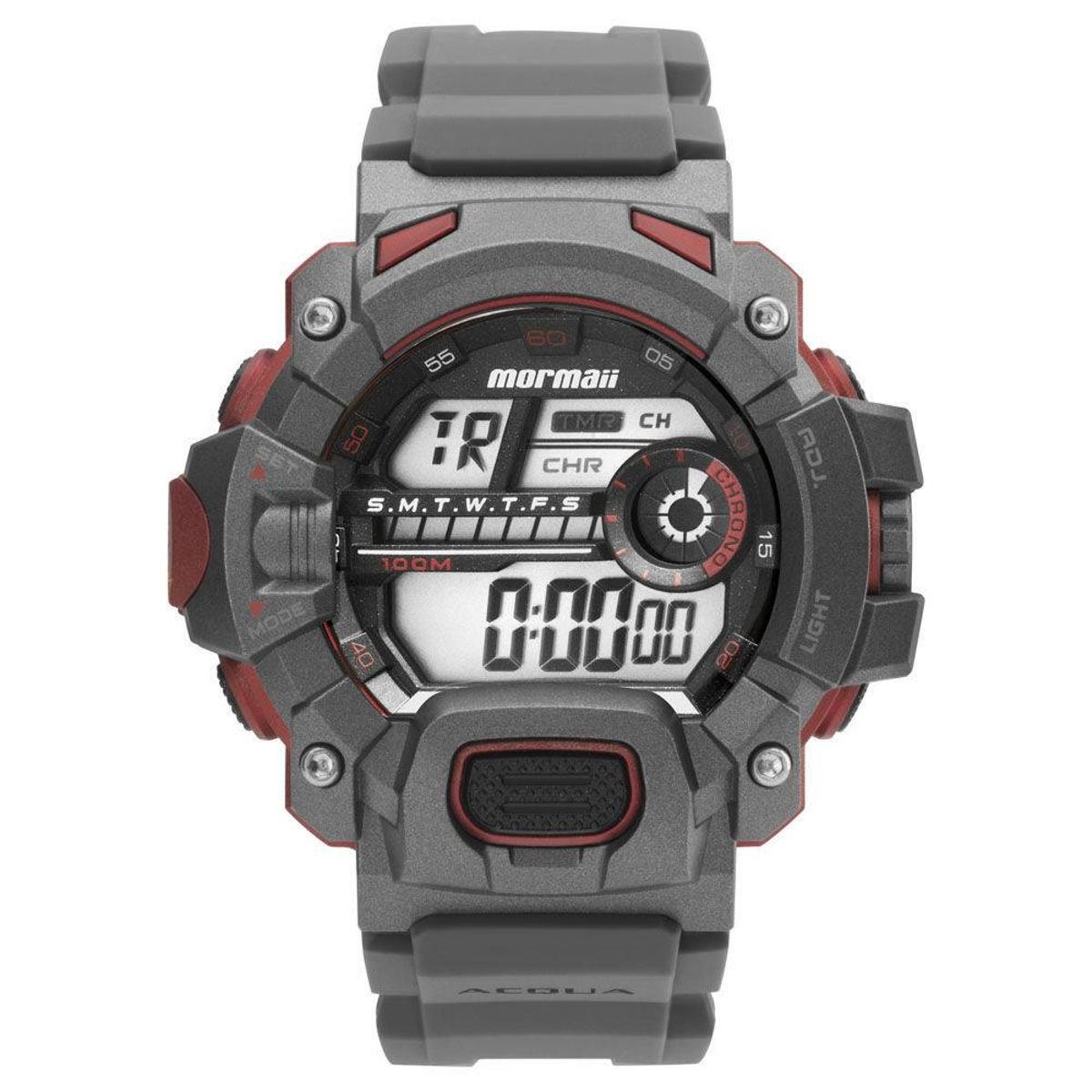 ee7c3d26b45 Relógio Masculino Mormaii Digital Action Mo1132ae  - Grafite ...