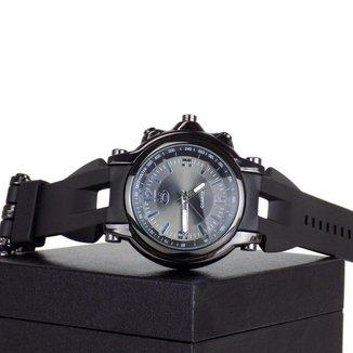 Relógio Masculino Orizom Quartz Pulseira De Silicome