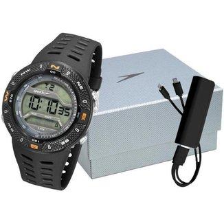 Relógio Masculino Speedo Digital Esportivo 81199G0EVNP2K1 com Carregador de Celular