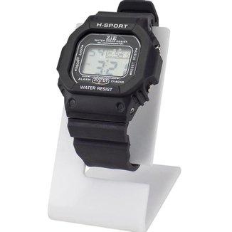 Relógio Masculino Sport Digital Led Com Pulseira De Silicone