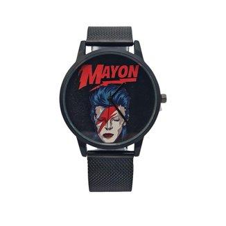 Relógio Mayon MN3011 Bowie Aço Inox Preto 40mm