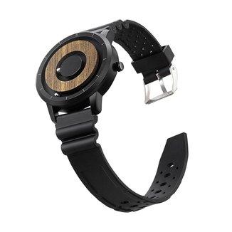 Relógio Mayon MN3466 Magnético Preto Sport P Borracha 40mm