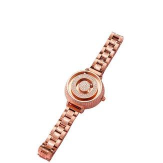 Relógio Mayon MN3580 Magnético Strass Brilhante Rose 35mm