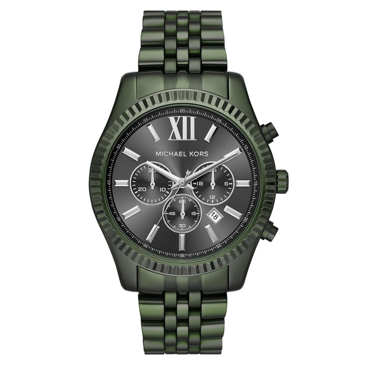 8280446cb17 Relógio Michael Kors Feminino Essential Lexington Verde Militar -  MK8604 1VN MK8604 1VN