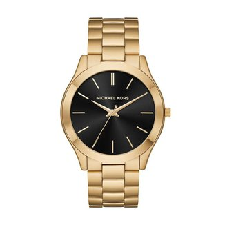 Relógio Michael Kors Feminino Slim Runway Dourado - MK8621/1DN MK8621/1DN