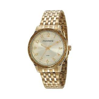 Relógio Mondaine Feminino Classic Dourado 53649LPMVDE1