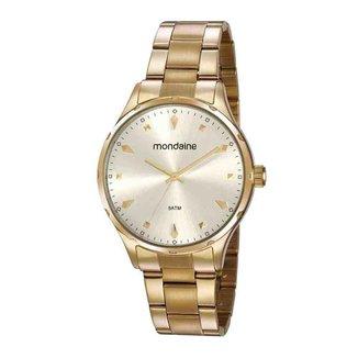 Relógio Mondaine Feminino Dourado 32108LPMVDE3
