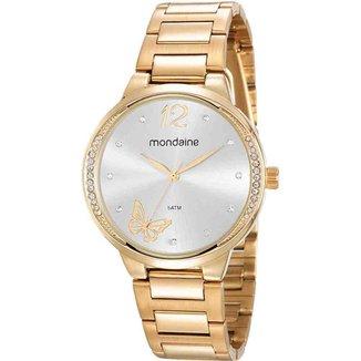 Relógio Mondaine Feminino Dourado 53758LPMVDE1