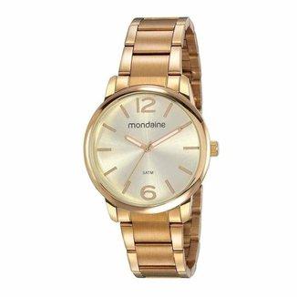 Relógio Mondaine Feminino Dourado 53819lpmvde1