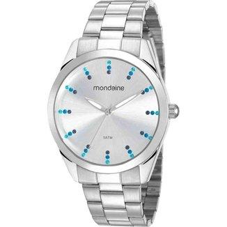 Relógio Mondaine Feminino Prateado 53672L0MVNE3