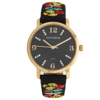 Relógio Mondaine Pulseira Bordada Feminino