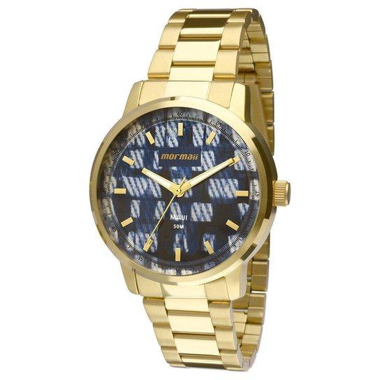 Relógio Mormaii Analógico MO2036HU-4A Feminino - Dourado+Azul