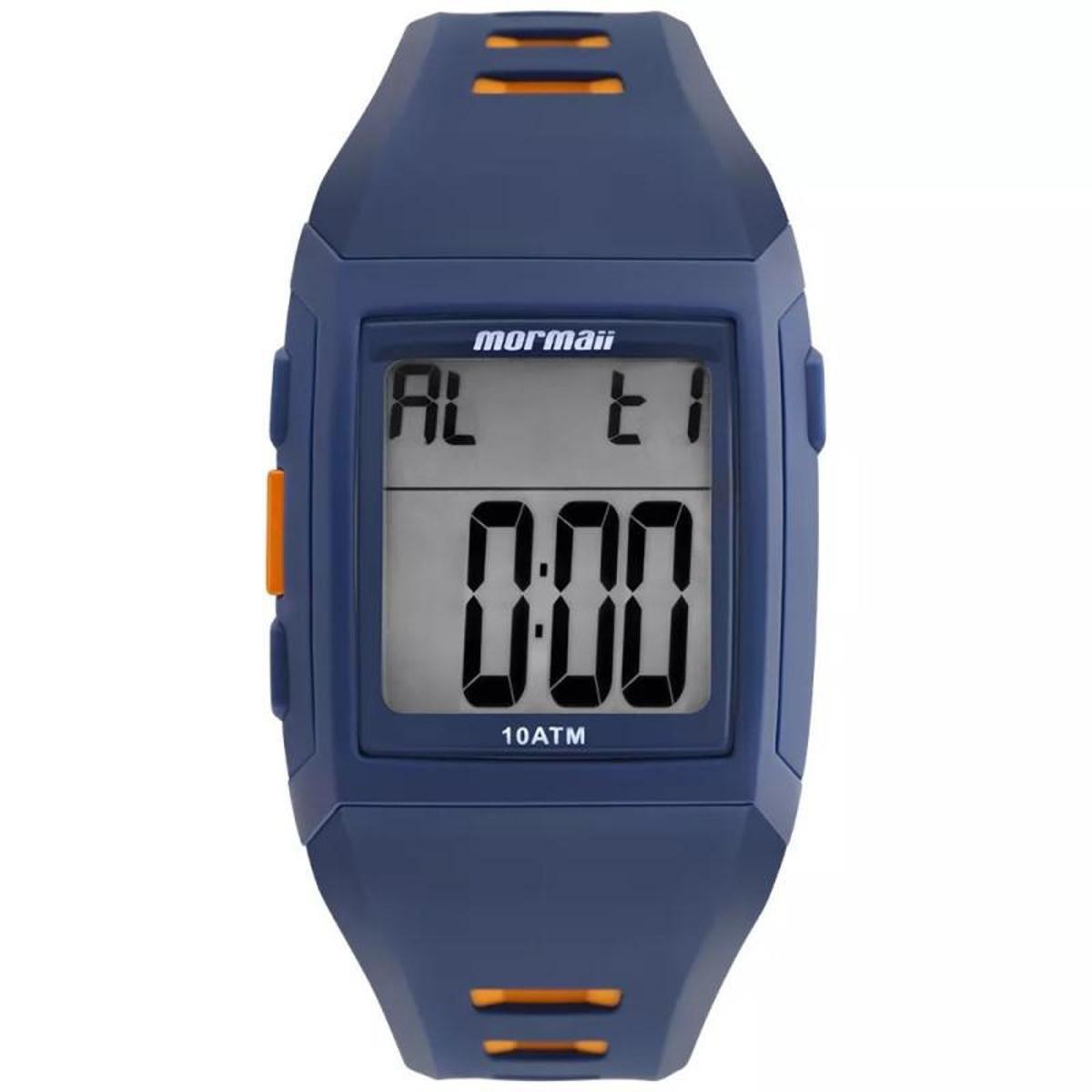 9600fad7526 Relógio Mormaii Digital Action MO967AA8P Preto Amarelo - Azul e Laranja - Compre  Agora