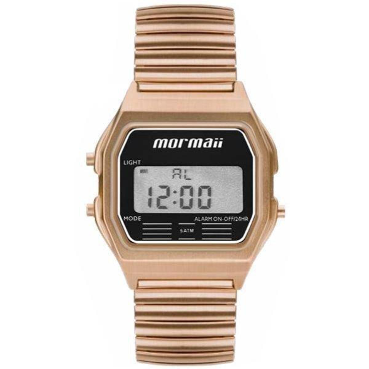 Relógio Mormaii Feminino Retro Rose Mojh02ax 4j - Dourado - Compre ... 52db157491