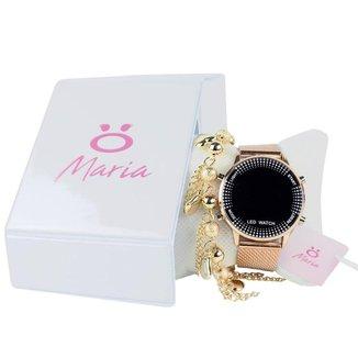 Relógio Orizom Maria Led Feminino