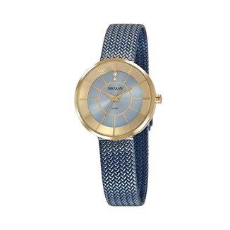 Relógio Seculus Feminino Glamour Dourado 23681LPSVLS2