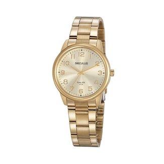 Relógio Seculus Feminino Long Life Dourado 20863LPSVDA1