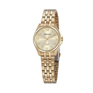 Relógio Seculus Feminino Long Life Dourado 20866LPSVDA1