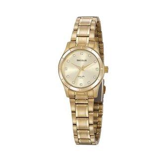 Relógio Seculus Feminino Long Life Dourado 20888LPSVDA1