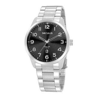 Relógio Seculus Masculino Prata 20961g0svna4