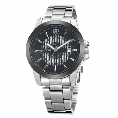 799d1dcd3f8 Relógio Skone Analógico 7232BG - Preto - Compre Agora