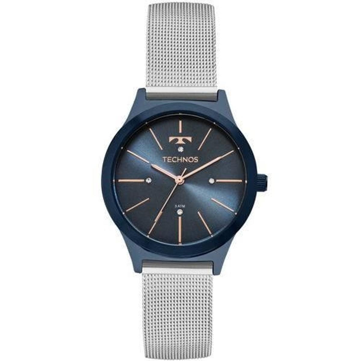 Relógio Technos 2039BO 4A Feminino - Azul - Compre Agora   Zattini 4b6aa92877