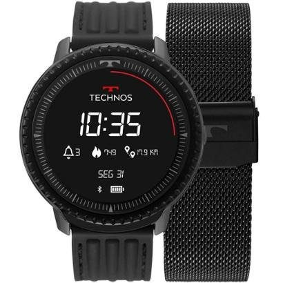 Relógio Technos Connect ID Smartwatch L5AA/1P 48mm Aço Masculino