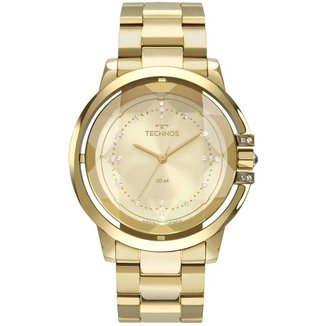 Relógio  Technos Crystal 2036MLL/4X 42mm Aço Feminino