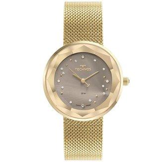 Relógio Technos Elegance Crystal Dourado GL32AB1C Feminino