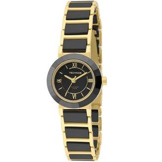 Relógio Technos Feminino Saphire Dourado 2035LWF4P