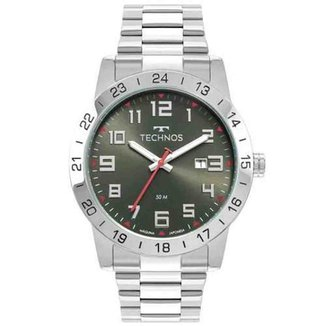 Relógio Technos Masculino Militar Prata 2115MWR