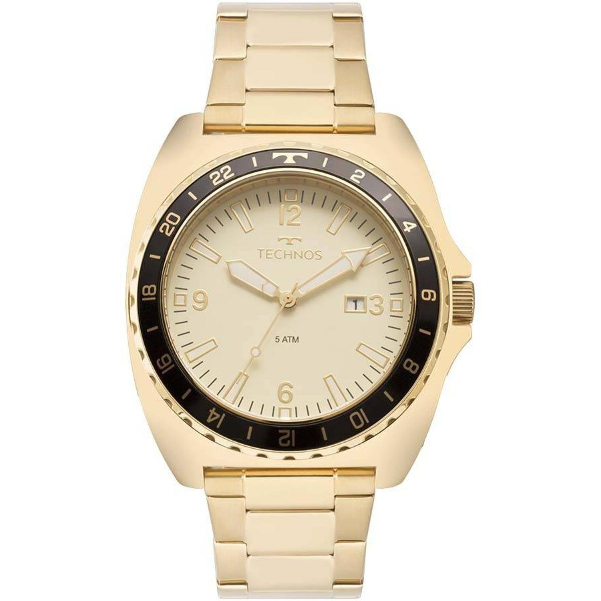 Relógio Technos Masculino Racer - Dourado - Compre Agora   Zattini 9f057fae97