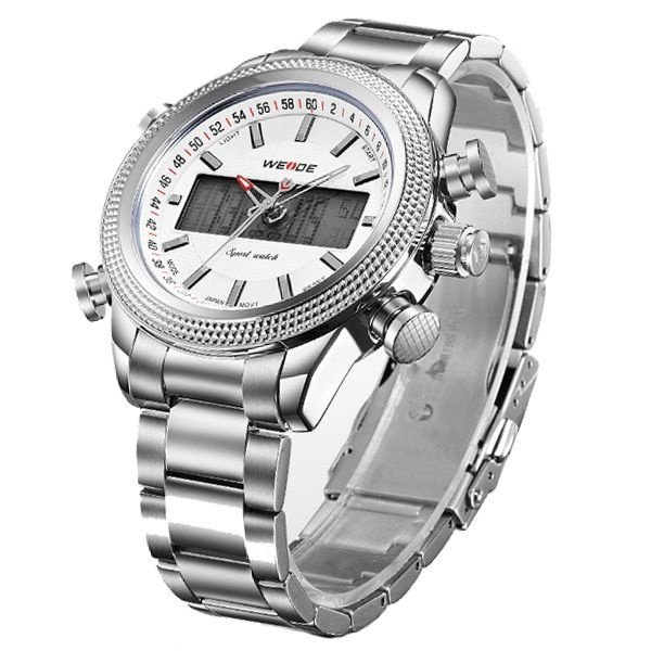 cfaff40f137 Relógio Weide Anadigi WH-3406 - Prata - Compre Agora