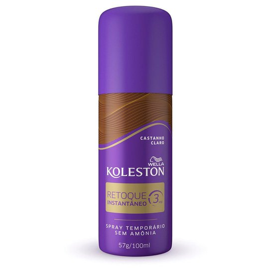 Retoque de Raiz Koleston Spray Instantâneo Castanho Claro 100ml - Incolor