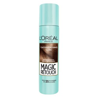 Retoque de Raiz L'Oréal Paris Spray Instantâneo Magic Retouch Castanho Claro, 75ml