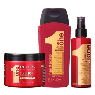 Revlon Professional Uniq One All In One Kit - Creme + Shampoo + Máscara Kit
