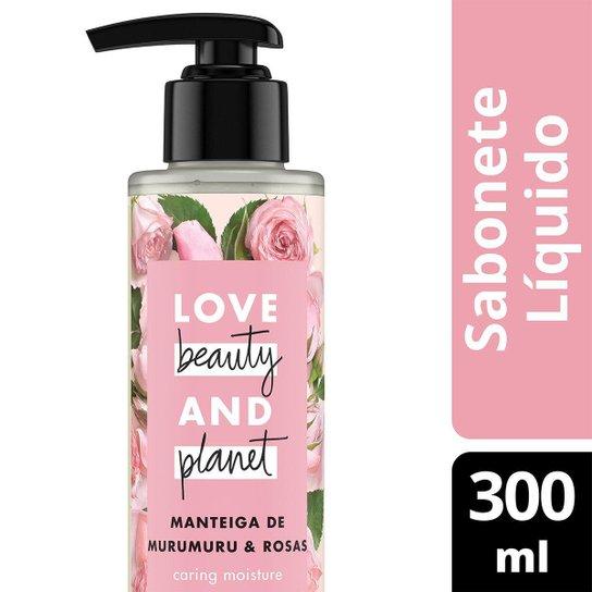 Sabonete Caring Moisture Mãos e Corpo Manteiga de Murumuru & Rosas Love Beauty and Planet 300ml - Incolor