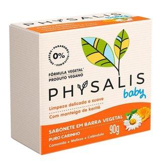 Sabonete em Barra Physalis – Puro Carinho Melissa, Calêndula e Camomila 90g