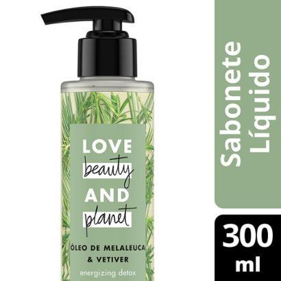 Sabonete Energizing Detox Mãos E Corpo Óleo De Melaleuca & Vetiver Love Beauty And Planet 300Ml-Feminino