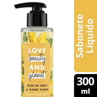 Sabonete Tropical Hydration Mãos e Corpo Óleo de Coco & Ylang Ylang Love Beauty and Planet 300ml
