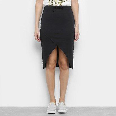 Saia Calvin Klein Midi Transpassada