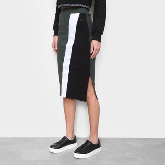 Saia Calvin Klein Midi Tricolor