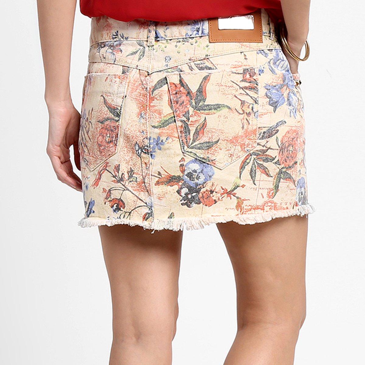 a3eaab909 Saia Dimy Flores e Pássaros - Compre Agora   Zattini