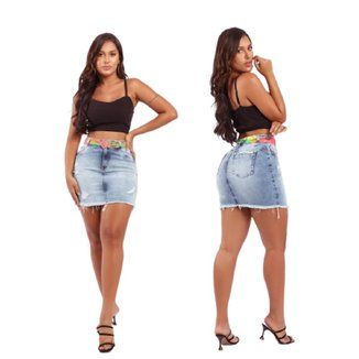 Saia Feminina Rdg Sa20608 Jeans