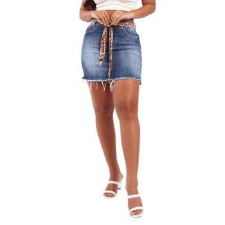 Saia Feminina Rdg Sa20614 Jeans