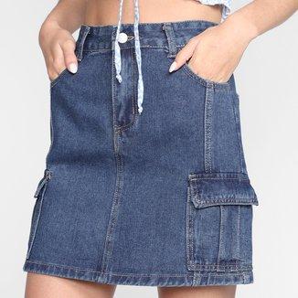 Saia Jeans Eagle Rock Core Feminina