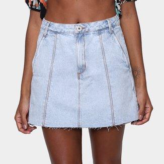 Saia Jeans Oh Boy Midi Feminina