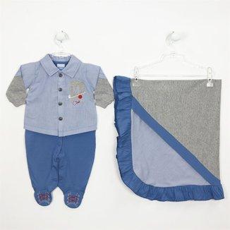 Saída de Maternidade Camisa em Tricoline