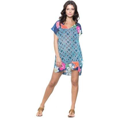 Saída de Praia 101 Resort Wear Fenda Azulejo