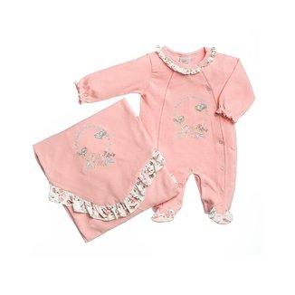 Saída Maternidade Bebê Anjos Baby em Cotton Bordada Passarinhos Feminino